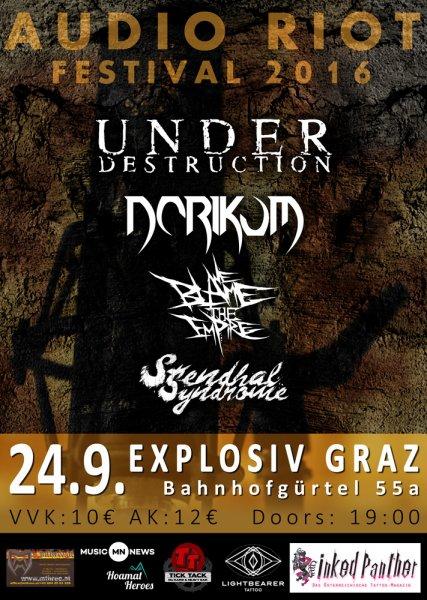 Audioriotfestival Flyer Web in Next Show: Audio Riot Festival 2016 @ Explosiv Graz